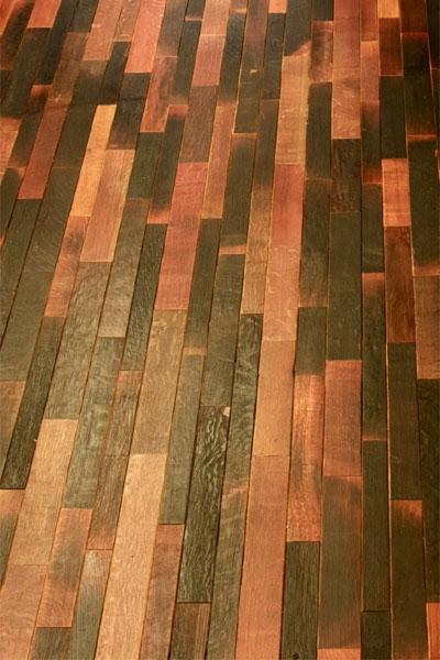 Vintage Wine Barrel Flooring Wine Design