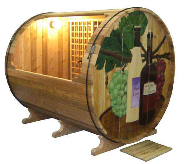 Just when you thought wine barrels were only used for wine for Barrel dog house designs