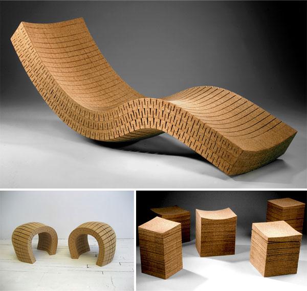 cork furniture by daniel michalik wine design